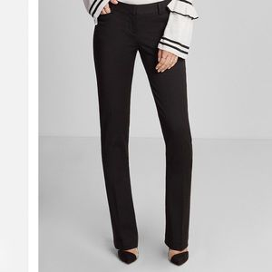 Express mid rise columnist barely boot dress pants